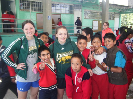 Raquel and I with some of the kids.