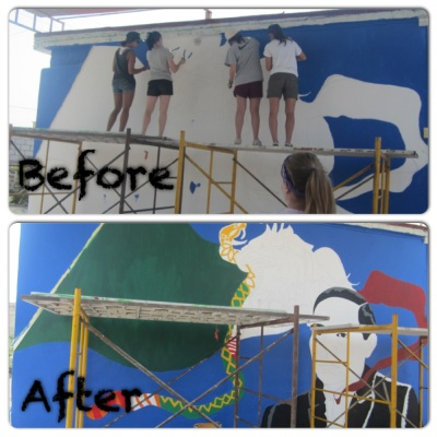 The first mural.