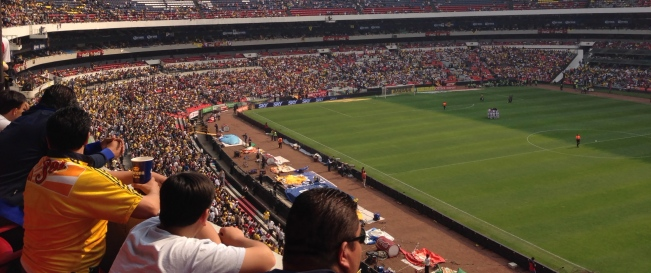 Azteca Stadium in Mexico City.