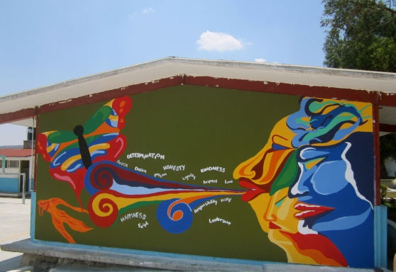 Mural #2 (wind and nature) complete.