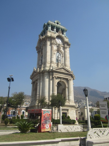 The clock in downtown Pachuca, given to Pachuca by the same manufacturer in England who designed Big Ben.