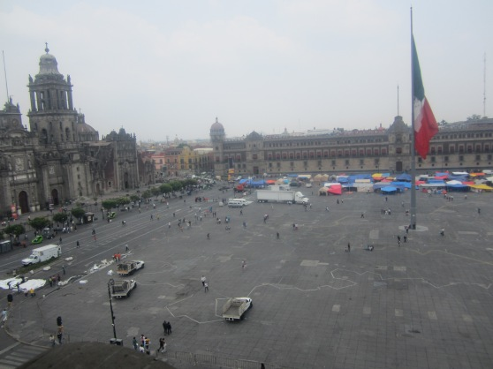 Our view of the Zocalo from the restaurant.