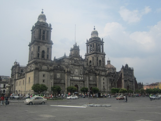 Mexico City Metropolitan Cathedral at the Zocalo.