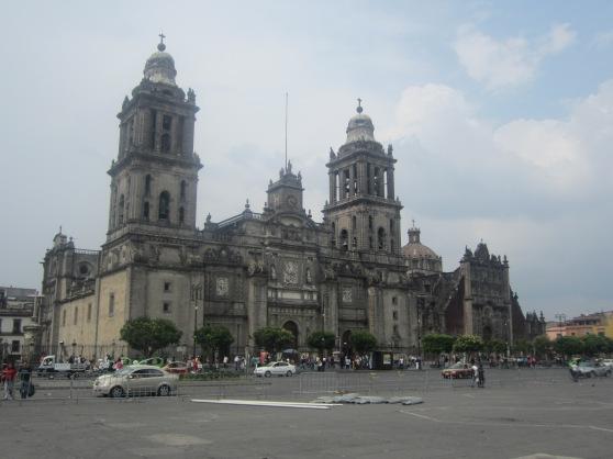 Mexico City Metropolitan Cathedral at the Zocalo.