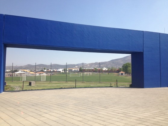 Entrance into the fields at Club Pachuca