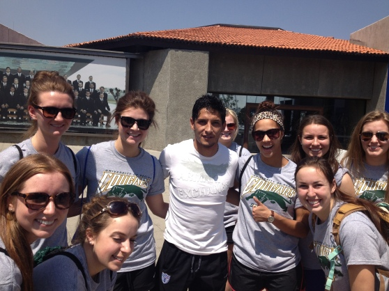 Some of the girls with #11 Angel Reyna, one of the best strikers for the Tuzos (C.F. Pachuca).