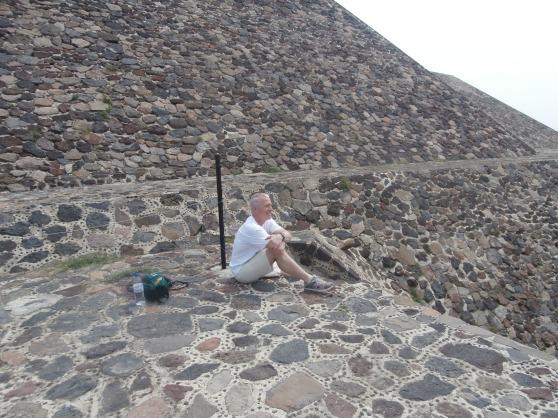 Bob posing on the pyramid!