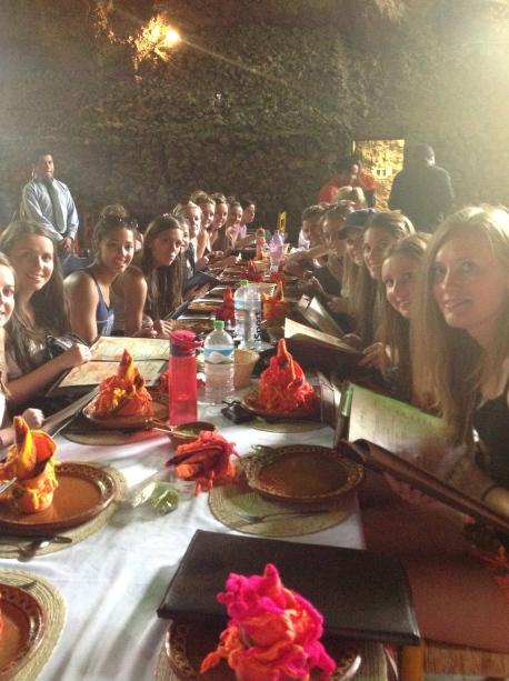 The team inside of La Gruta.